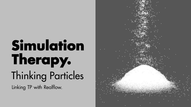 Sugar Stacks pt 03 How to link Thinking Particles with Realflow