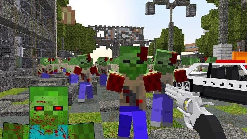 смотреть зомби апокалипсис в майнкрафт #1