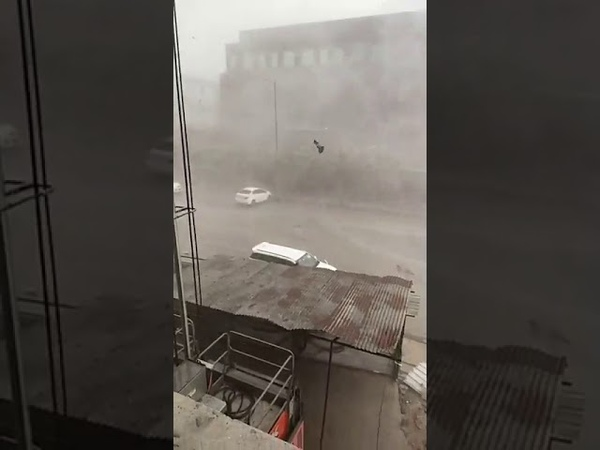 Hurricane Winds Rain Storm hits Noida नोएडा Uttar Pradesh INDIA June 10 2020 Thunderstorm