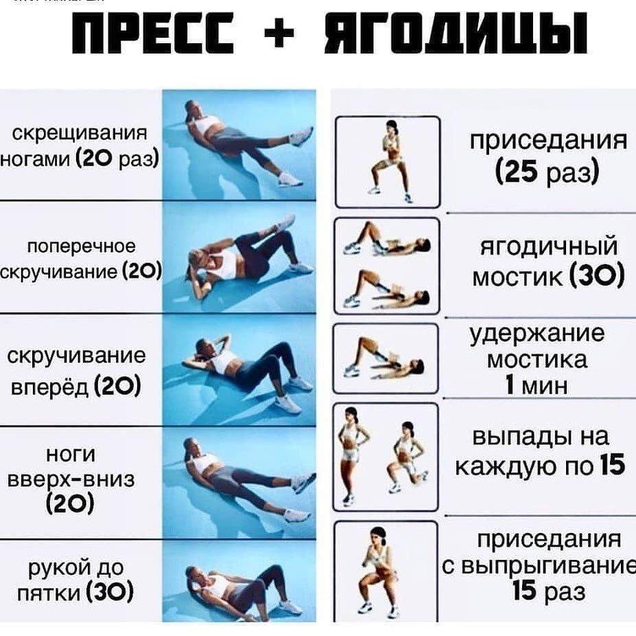 Упражнения Для Похудения И На Пресс.