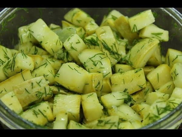 Маринованные кабачки как грибы за 20 минут сразу кушать или на зиму Быстрая овощная закуска