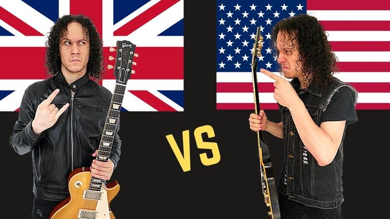 British Heavy Metal VS American Heavy Metal (Guitar Riffs Battle)
