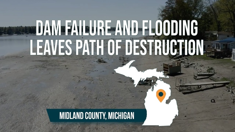 A whole town destroyed Michigan flooding and dam failures leaves path of destruction