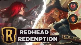 KATARINA & MISS FORTUNE Redhead Redemption   Legends of Runeterra Deck