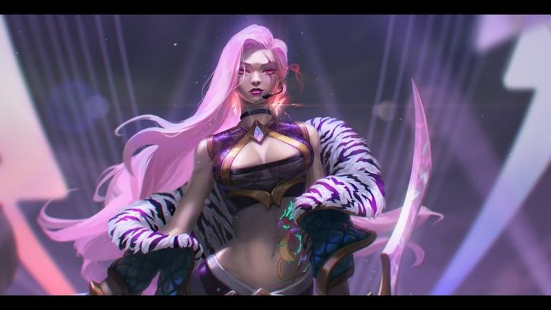 K DA Katarina Goddess with a Blade fanart