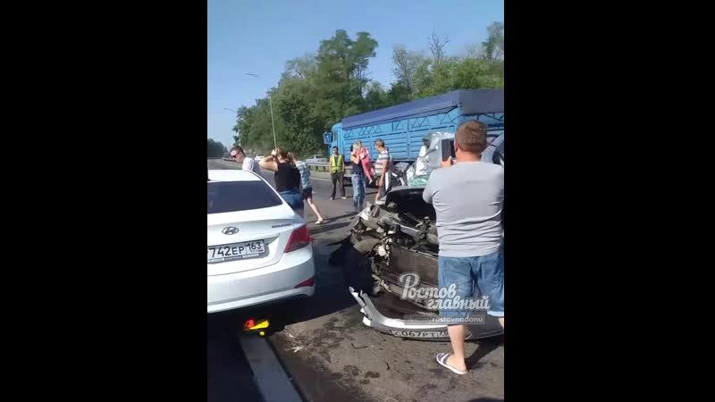 Авария после Щепкинской развязки в сторону Ростова 12 7 2020 Ростов на Дону Главный