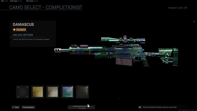 It would be interesting if Activision added some customization to damascus Here is my hue slider concept Modern Warfare