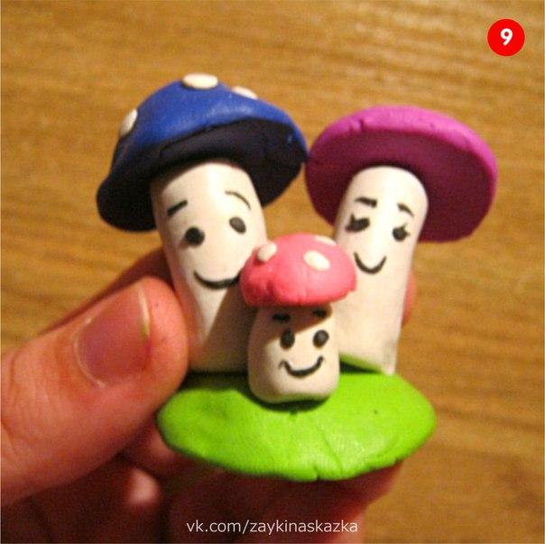 ГРИБНАЯ СЕМЕЙКА Поделка из пластилинаХвастал в роще Мухомор:Ах, красив на мне убор!Позавидует любойКрасной шляпе с