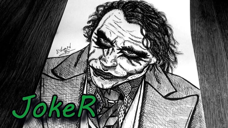 The Joker (Heath Ledger) Drawing