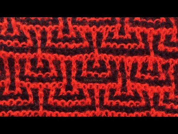 Красное и черное Вязание спицами