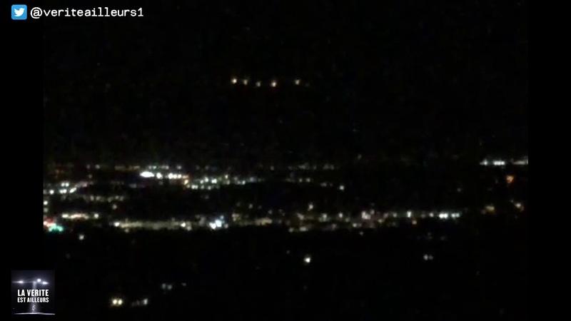 Un OVNI géant filmé de nuit à Vista Californie