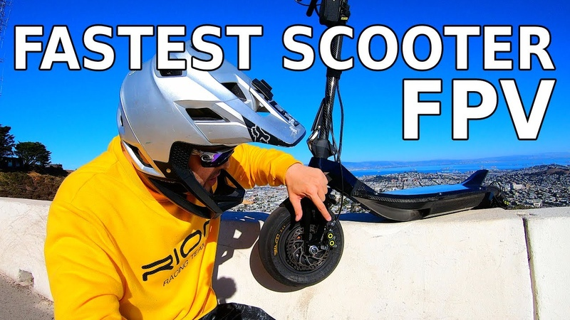 RION RE100 Electric Scooter First Look FPV Test Ride