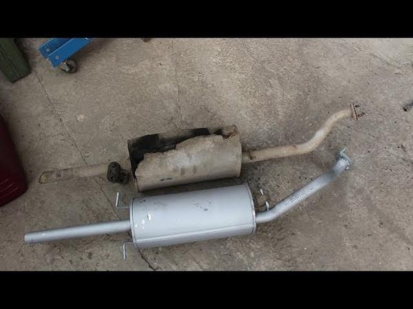 Замена задней части глушителя на Chevrolet Lanos Шевроле Ланос 2006 года