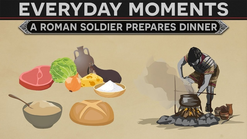 Everyday Moments in History A Roman Soldier Prepares Dinner