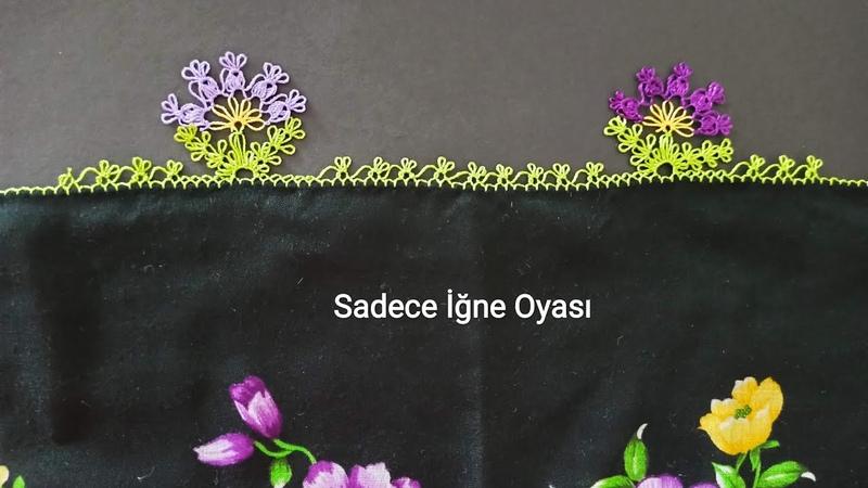 Rengarenk çiçekli yazmalar için siparişlik iğne oyası modeli @Elişi Emek İster