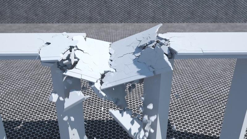 Cinema 4d Bridge Destruction / Voronoi Fracture /Redshift Render and Octane Render