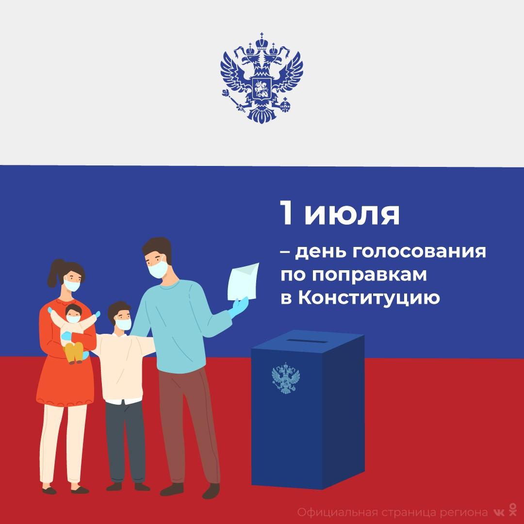Сегодня, 1 июля - день голосования по поправкам в Конституцию