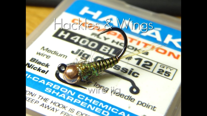 Fly Tying Wire Jig Nymph Hackles Wings