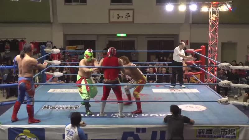 Kento Miyahara SUSHI Yoshitatsu vs Violent Giants Shuji Ishikawa Suwama Strong Juso
