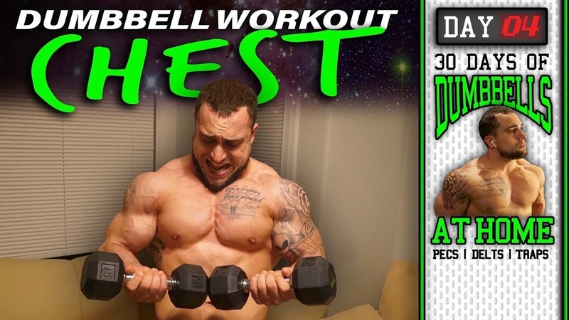 Dumbbell Chest Workout At Home 30 Days to Build Pecs Delts Trap Muscles Dumbbells Only