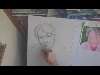 Танделов Борис рисует портрет за 15 минут кафедра рисунка ХГФ ИИИ МПГУ