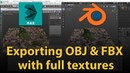 How to export 3dsMax file to OBJ FBX with full textures?