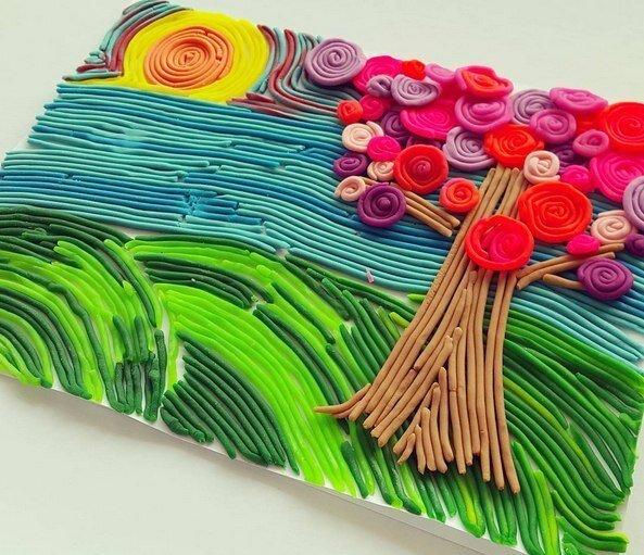 РИСУЕМ ПЛАСТИЛИНОМ КАРТИНЫ ИЗ ПЛАСТИЛИНА. Разные виды пластилиновой живописи существуют и применяются в работах с дошкольниками. Сегодня мы хотим поделиться мастер-классом Пластилиновая