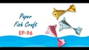 EP 96 DIY Paper Fish Craft, Handmade Paper Fish Craft Easy and Simple Paper Fish Craft