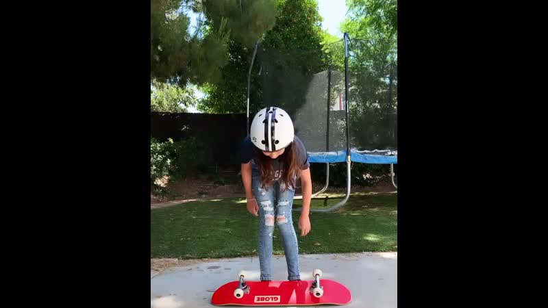 Maybe she will skate to school in middle school 🛹😎😂not quite there yet but not bad for her first day New hobbies are always fun