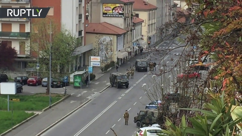 Italy's war on COVID 19 Army installs checkpoints in Bergamo