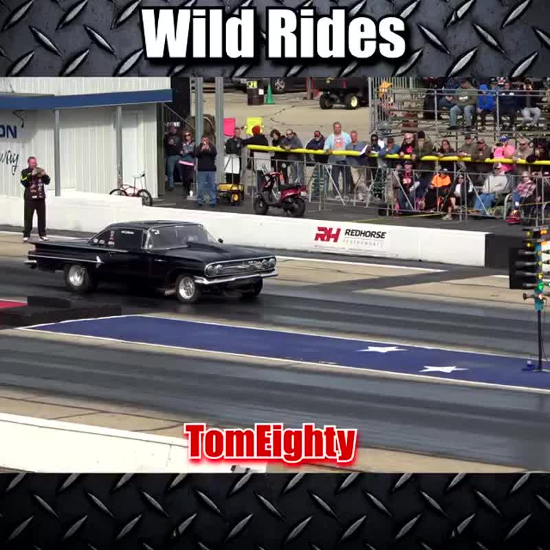 See some awesome wheelies, crashes, close calls and fireballs that happen while drag racing.
