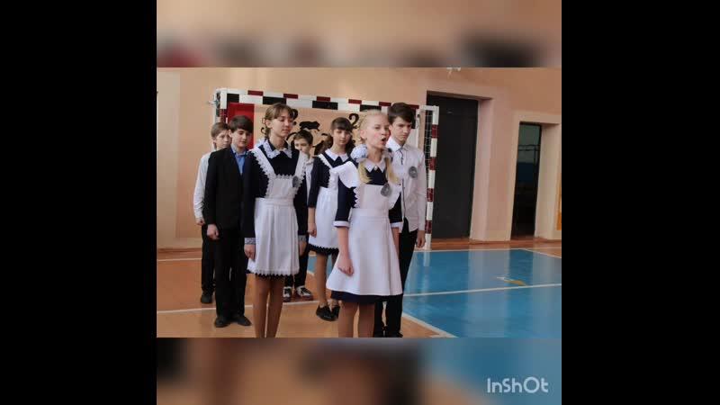 Видео из фотографий учащихся 7 класса МБОУ СОШ с Орлик Наша школьная семья