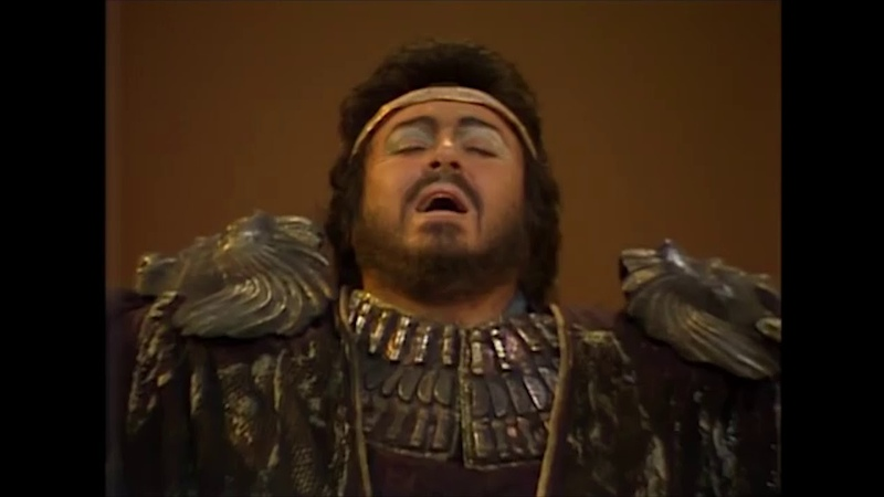 Aida Pavarotti Chiara Dimitrova Pons Ghiaurov Teatro alla Scala Lorin Maazel 1985