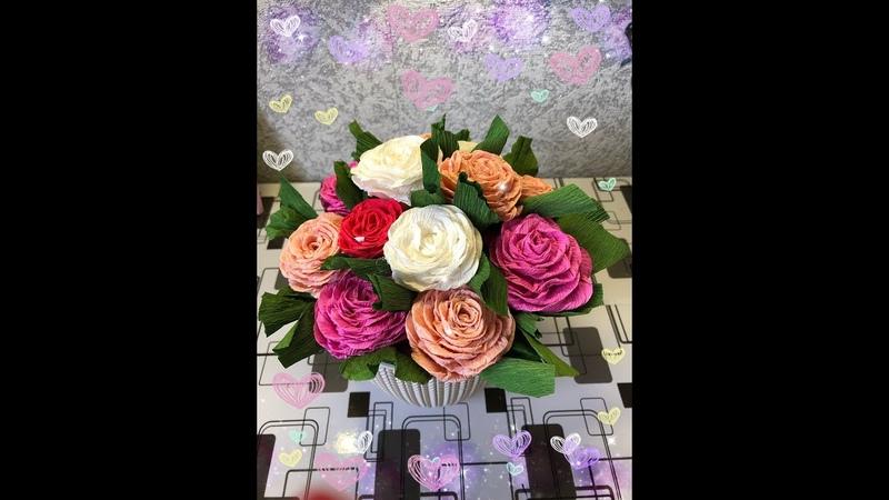 Подарок цветы в горшке своими руками