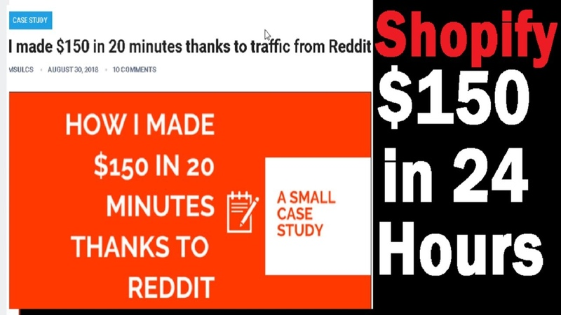 SHOPIFY Strategy 🤑 How to Make $150 in 24 Hours With FREE Reddit Traffic!