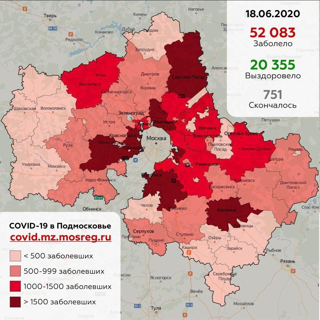 В Дубне выявлено 222 человека, заболевших коронавирусом с момента начала пандемии