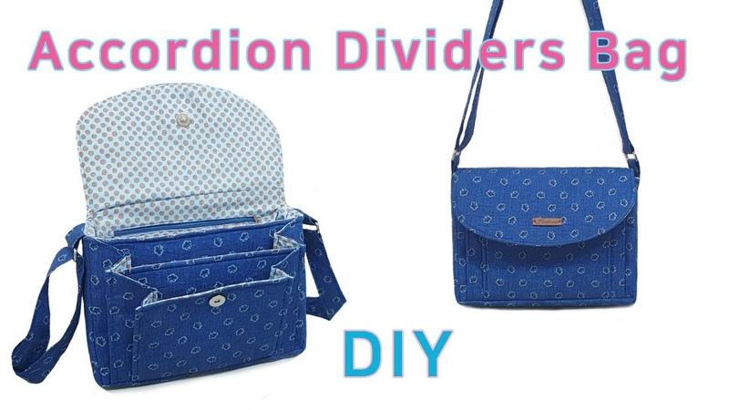 DIY Accordion Dividers Bag Accordion bag tutorial Unique design bag 아코디언 백만들기