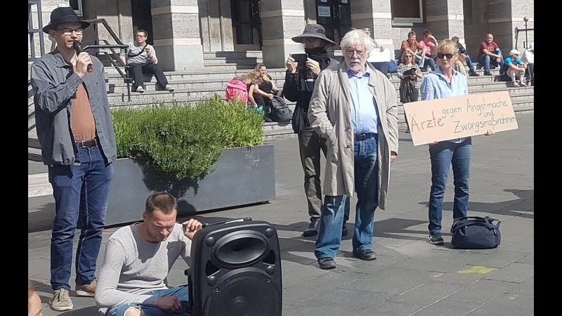 Brandrede von Hans Joachim Maaz Stiller Protest Halle Saale 16 Mai 2020
