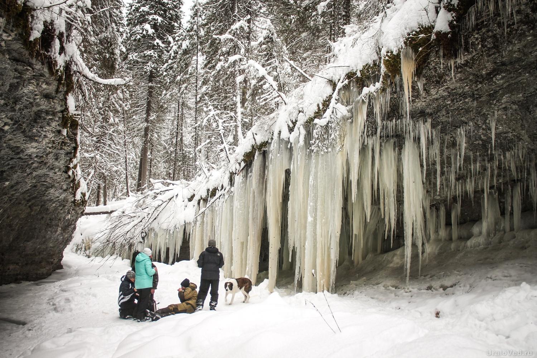 Ледяной водопад Мельничного ручья