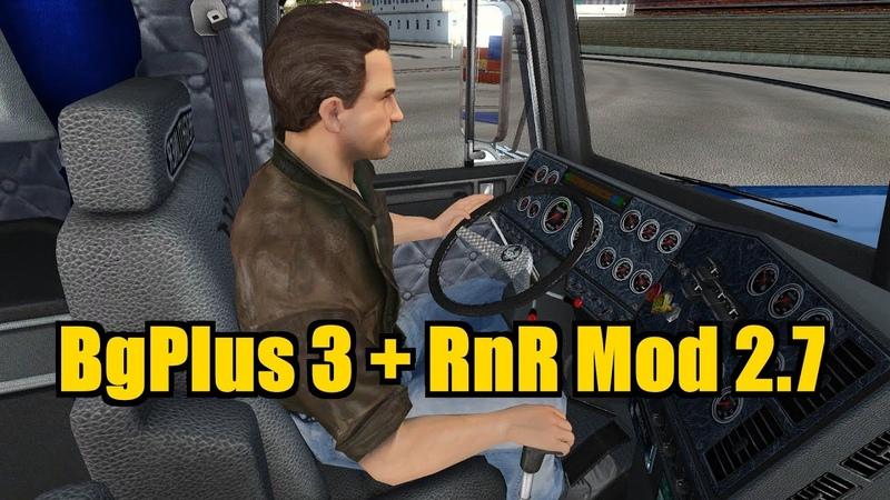 Дальнобойщики 3 BgPlus 3 RnR Mod 2.7 | Freightliner FLD 120 | LA - Oxnard, CA