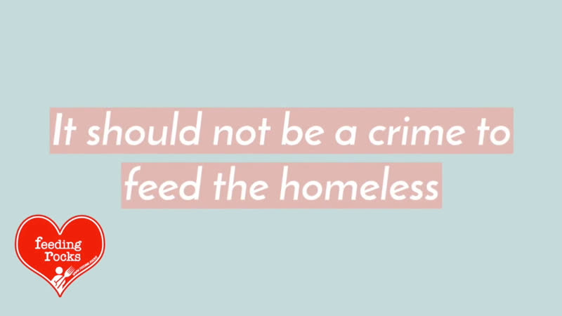 Don't put people in jail for feeding the poor Sign the petition Faith Hope Love