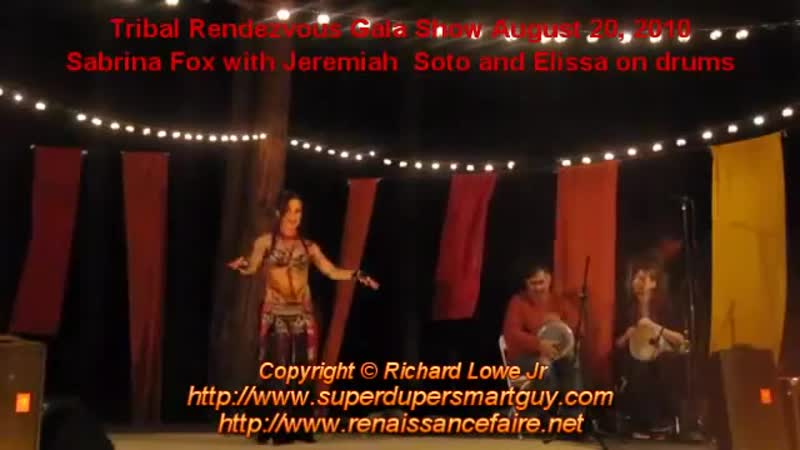Sabrina Fox with Jeremiah Soto and Elissa on drums at Tribal Rendezvous
