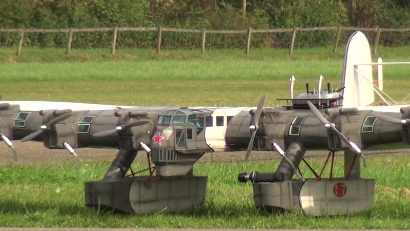 Strange and Crazy Plane CCCP Kalinin K7 RC Scale Model Airplane a 6x Prop unusal Monster Aircraft