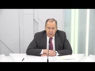 Ответы на вопросы С.В.Лаврова в программе Большая игра на Первом канале