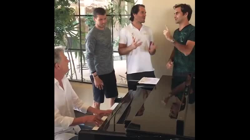 Grigor Dimitrov, Roger Federer and Novak Djokovich are the best singers in the World!!