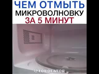 Как отмыть микроволновку!