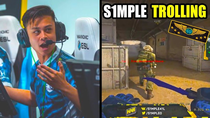 S1MPLE JOKES ABOUT PLAYERS IN MM AT SUPERIME STEWIE2K IN SOLO WINS FACEIT CSGO BEST MOMENTS