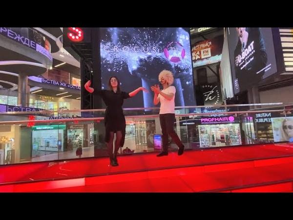 Чеченская Лезгинка ТРЦ Vеgas Крокус Сити 2021 Девушка Танцует Чётко ALISHKA (Москва) Lezginka