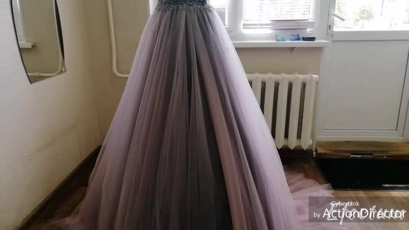Укорачивание платья на выпускной с многослойной юбкой из еврофатина ✂️💃
