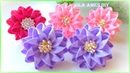 Канзаши/Цветы из репсовой ленты/DIY Grosgrain Ribbon Flowers/Flor de Fita de Gorgurão/Ola ameS DIY